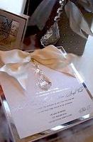 crystal mini style wedding Acrylic invitation manufacture in China