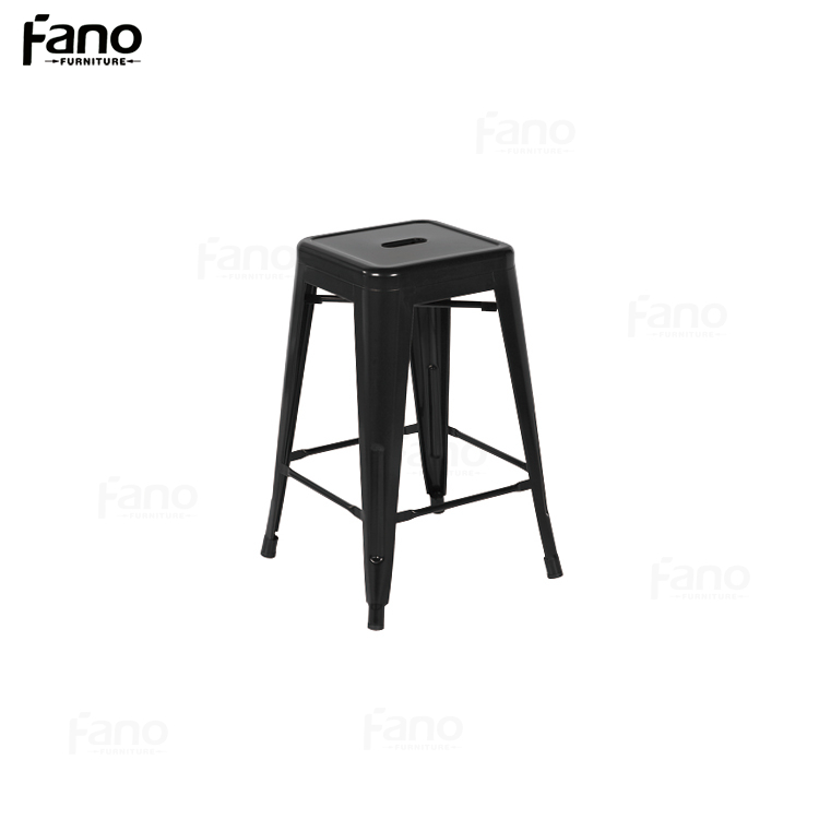 wholesale colorful industrial stackable metal bar stool