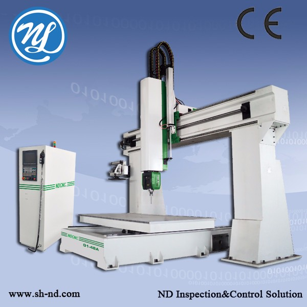 4 axis cnc wood lathe machine Five axis 1224-5CNC Router ATC for wood working door and window