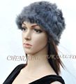 CX-C-31F Latest Hand Knitted Winter Ladies Rabbit Fur Beanie Hats Caps