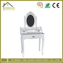 White dresser with mirror , wall dressing table wholesale