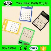popular Touch screen transparent solar calculator