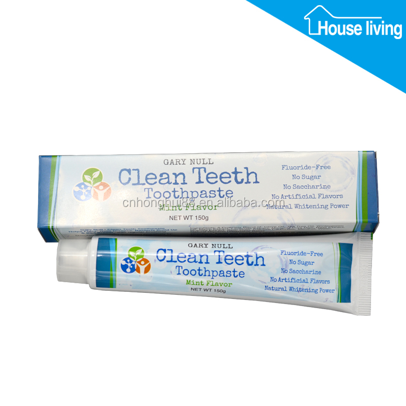 FDA 150g wholesale bulk teeth whitening brand names clay fluoride free organic natural herbal toothpaste
