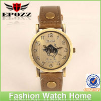 Wholesale 2013 hot selliing quartz men's leather watch romanson