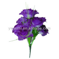 Cheap purple 7 heads artificial flowers and plants