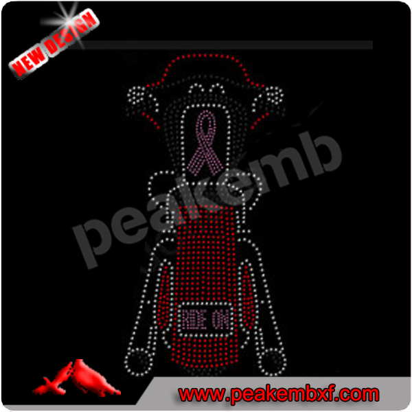 Bling Bling ribbon motorcycle rhinestone heat transfer Sportwear and T-shirts