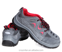 Workmans sports style safety shoes with steel toe cap midsole plate and dual density PU injection sole