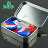 Foldable disposable silicone food grade container wax containers lined jars for glass water pipe smoking pipe