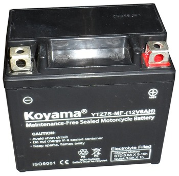 Competitive price 12V 6AH rechargeable motorcycle battery YTZ7S-MF