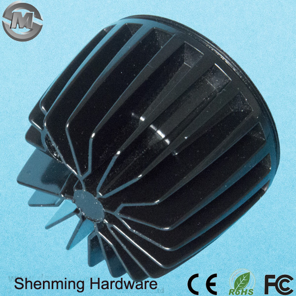 ADC12 Painted Black LED Heat Sinks Aluminum die Casting