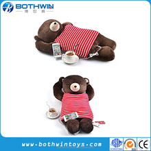 Creative Cute Bear Shaped Light Musical Pillow Cushion With Speaker