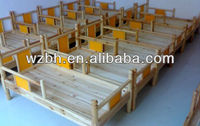 School Furniture,Double Wood Bed for Students,Solid Wood