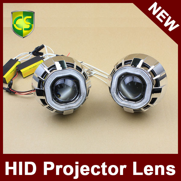 2015 New Design Auto Parts 3 inch Double Angel Eyes Projector Lens