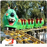 High quality kids amusement rides play games big worm roller coaster/ theme park equipment for sale