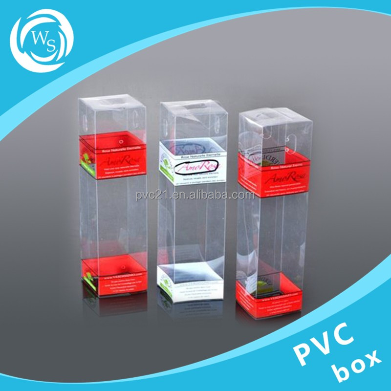 ISO9001 factory Eco-friendly transparent hard clear pvc plastic box