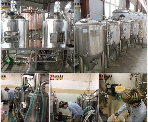 SDET-micro brewhouse equipment,100~1000l beer making machine for small business