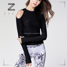 High Quality Women Yoga Wear Stretch Better Long Sleeve Shirts Sexy Yoga/Running Shirts