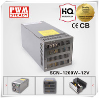 Steady SCN-1200W CE 12v 100a switching power supply 1200w led PSU