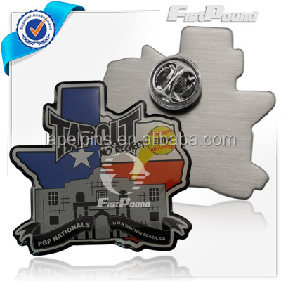 Tapout 2014 Printed metal pin with expoy badge