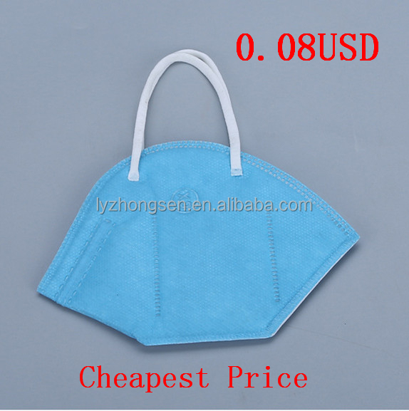 C0815-2 Niosh N95 Disposable Anti-dust Face Mask With Valve Blue Dot Color