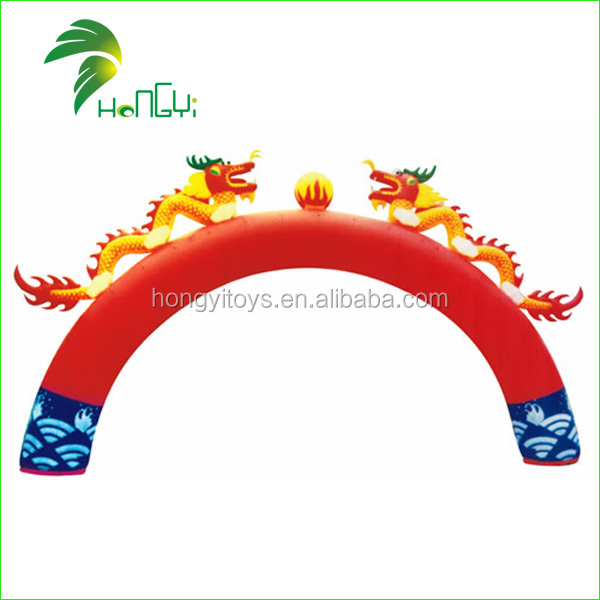 Hot Sale Custom design Inflatable Dragon Arch , Outdoor Advertising Inflatable Dragon Entrance Arch With Dragon For Event