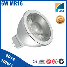high quality large beam angle 6 Watt MR16 COB LED Spotlight Bulb from China Factory