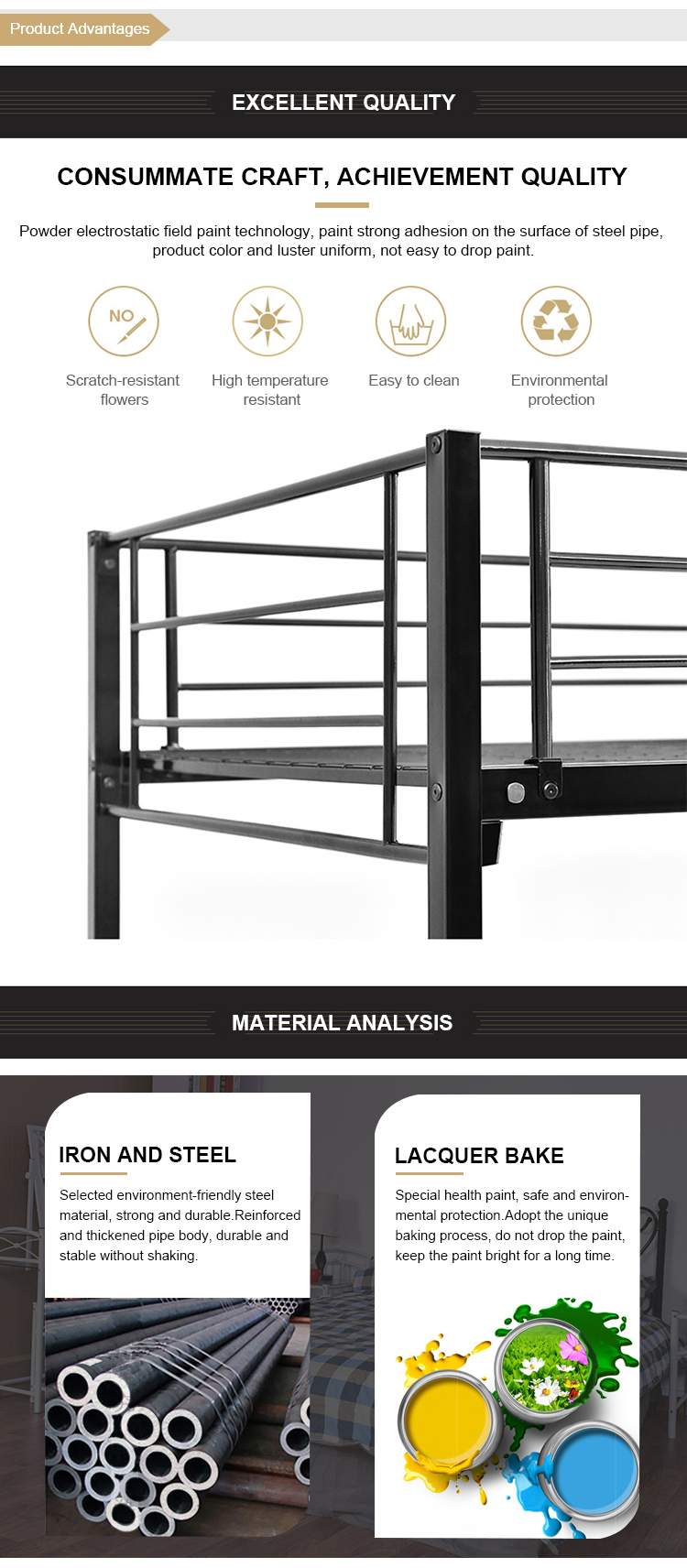 Super 현대 designs heavy duty size custom metal stainless steel single cot 침대 대 한 단점이라하면