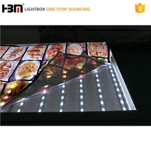 high brightness changable lign spacing outdoor advertising textile light box IP67 LED light bar