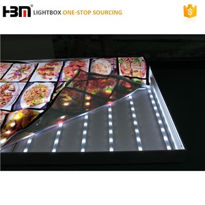 high brightness changeable lign spacing outdoor advertising textile light box IP67 LED light bar