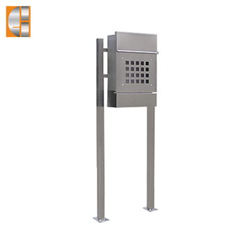 GH-3328S12U1 stainless steel freestanding mailbox