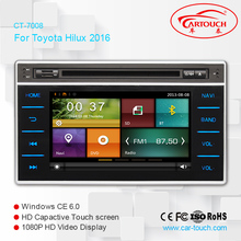 China Price Wholesale stereo 7 inch blue ray car dvd player GPS Navigation for Toyota Revo 2016