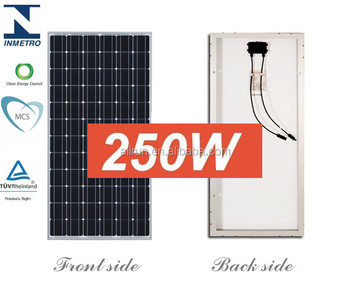 A grade high efficiency 12v 24v mono solar panel