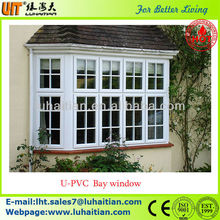 Bay window pvc casement window fix window with grill design