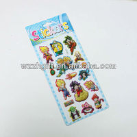 HOT! newest design wholesale eco-friendly self-adhesive colorful 3D puffy stickers-seven dragon balls,manufacturers