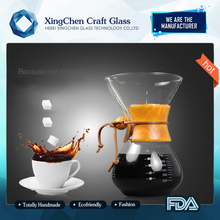 400ml Eco-friendly crystal glass disigner coffee set