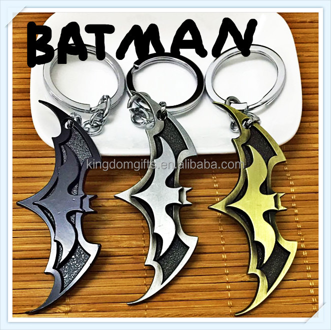 2016 hot sell movie batman metal keychains