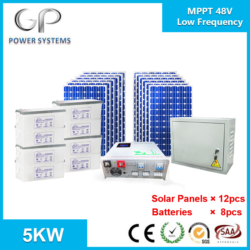 [GP-IB-M5000] 5KW Home Solar Power <strong>Systems</strong> Low Frequency Hybrid Inverter with MPPT Solar Charge Controller