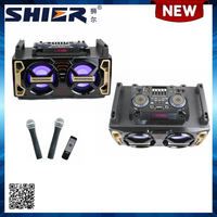 OEM Dual 6 Inch 180W Big Power Party Music Speaker Box With Flashing Light