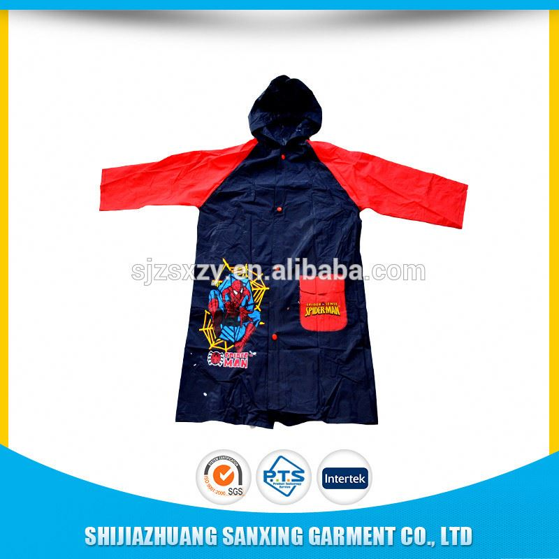 cheap all kinds of little children pvc raincoats with logo