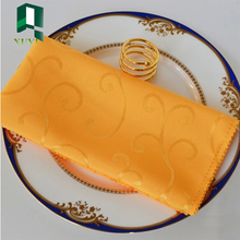 wholesale modern banquet use table napkin with hand hemstitch embroidery