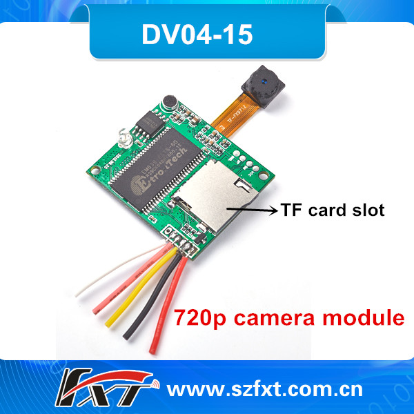 Realtime Mini Video Audio Recorder/Camcorder,Voice Recorder Micro 720P Camera Module With SD card Slot,Support AV Output