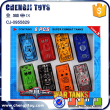 2016 new item 8pcs children metal tank model