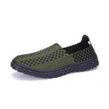 2017 women hand made knit woven shoes slip on outdoor flat loafers casual shoes