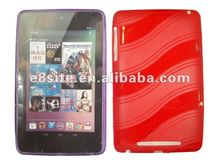 Hot Sale Wave Pattern TPU Back Case For Google Nexus 7