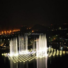 Music led lights dancing water fountain show