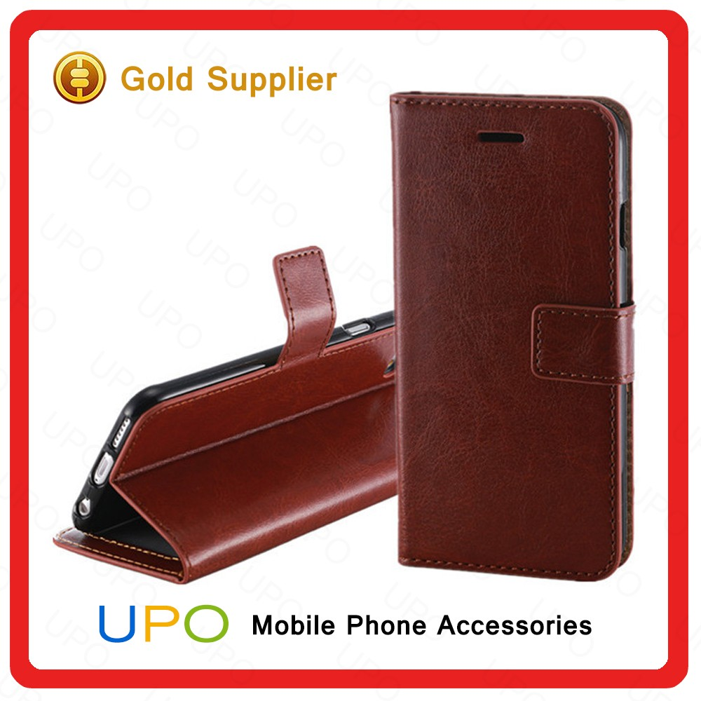 [UPO] New Arrival Shockproof Full Cover PU Leather Kickstand Phone Case for iPhone 6s with Card Slot