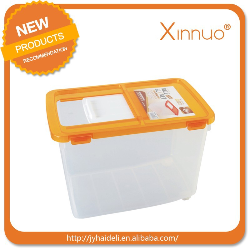 Food grade plastic PP storage rice container/plastic rice storage container rice box