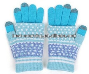 Professional unisex winter glove,knit glove,screen touch gloves