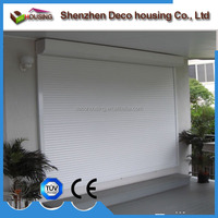 Security manual/electric operation aluminum hurricane electric roller shutters