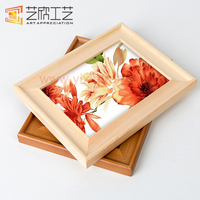 Chinese Style Wood Color Carved Picture Frames Photo Frame Flowers